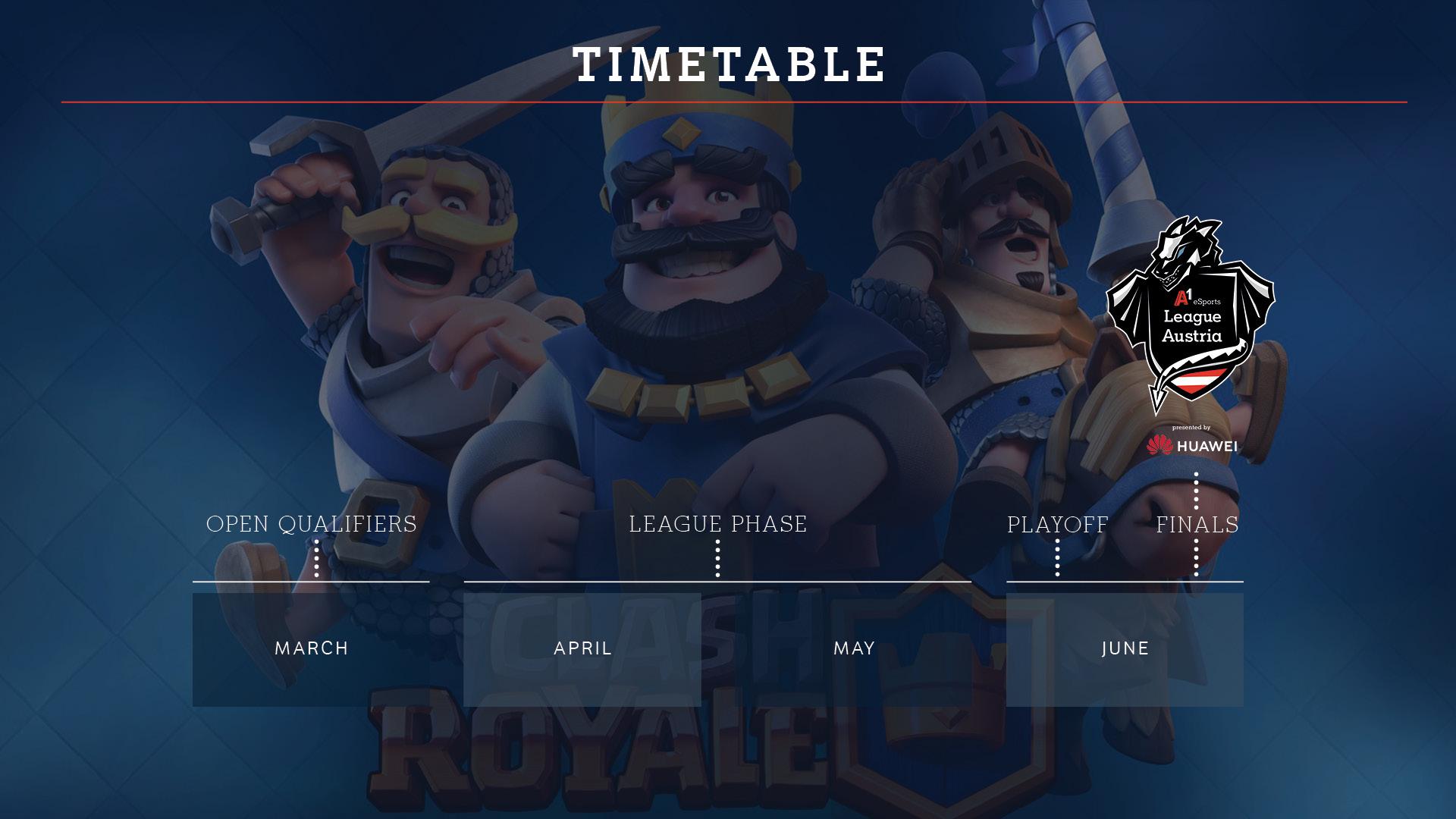 Ablauf Clash Royale A1 eSports League Austria
